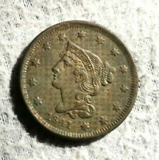 USA! Rare 1841 Large Cent Penny in XF/AU Grade!