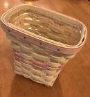 NOS Longaberger Basket Handmade 2004 Small Signed Horizon Of Hope 1 Yr Liner