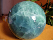 60MM Glow In The Dark Stone crystal Fluorite sphere ball +Free stand A8