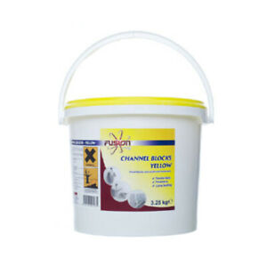 Fusion 3.25kg Washroom Channel Blocks Yellow Urinal Fresheners