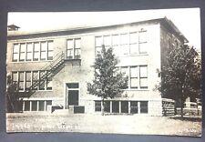 MI BAD AXE Michigan c1910 postcard  NEW HIGH SCHOOL  has it survived a century+?