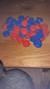 Kloats Boßeln Scheiben Minikloats als Nummerierung fürs Kloatscheeten rot + blau