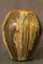 Vase terre cuite vernissée type Alsace Savoie Gaydrillart étiquette Klein-Ogez