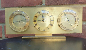 STUNNING ANGELUS SWISS MADE ELECTRONIC BRASS TABLE WEATHER STATION CLOCK WORKS