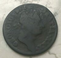 1723 Ireland 1/2 Penny - Some Environmental Damage