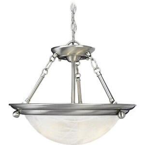 Volume Lighting Lunar 3-Light Brushed Nickel Interior Pendant