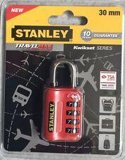 Stanley candado rojo 30 mm Tsa* Travel Sentry approved 4 codigos maleta bolso