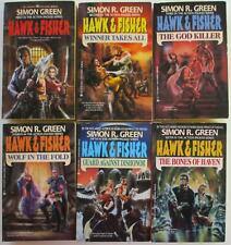 SIMON R. GREEN 6 Book Lot HAWK & FISHER Series #s1-6 Fantasy Action All SIGNED!