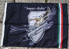"""Bandiera Commemorativa Stemma 186° REGGIMENTO PARACADUTISTI """"FOLGORE"""" - (50X75)"""