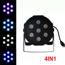 12pc 7x12W RGBW 4IN1 Led Flat Par Light/DMX Event Wedding Bar KTV Dj Disco light