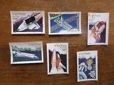 VIETNAM 1992 INTERNATIONAL SPACE YEAR SET 6 USED STAMPS