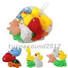 13 x Animal Child Baby Kids Bath Toy Rubber Float Squeeze Sound Wash Bath Swim