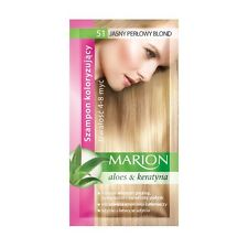 Buy 2 Get 1 Marion Hair Color Shampoo Lasting 4-8 Washes No Ammonia 51. Light Perl Blond