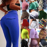Women YOGA Pants Print Fitness Leggings Stretch Running Gym High Waist Sports F1