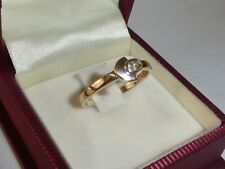 Ring 333 Gold 8K Gelbgold Zirkonia Goldring Verlobungsring RG 57 - 18,1 mm 1543