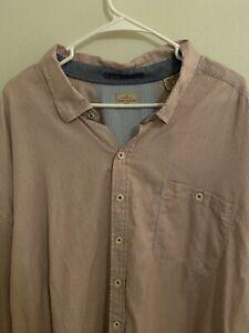 Tommy Bahama Relax Shirt Tencel Cotton Button Up Men's 4XL 4XT 4XLT Red Striped