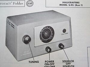 HALLICRAFTERS S-95 RADIO / RECEIVER PHOTOFACT