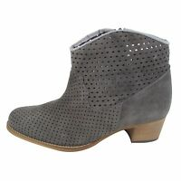 Size 10.5 Women's Grey Suede Ankle Boots MADE IN SPAIN Big