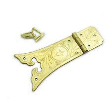 HG027 - Solid Brass Hinge - Antique Style Kitchen Cabinet Decorative Long Hinge