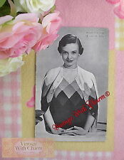 Vintage Knitting Pattern Lady's 'Diamond' Jumper & Cardigan Set To Fit 36in Bust