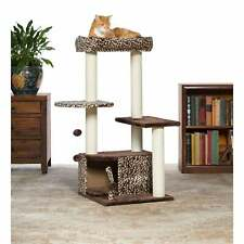 Prevue Pet Products Kitty Power Paws Leopard Lounge Cat Tree multi