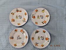Rudoolstadt Germany Set of Four Childrens Plates