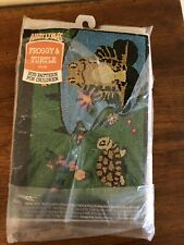 """Vintage Aunt Lydia's Rug Pattern#105 Froggy & Turtle-Sz 24""""X36""""-Needle Punch-Mip"""