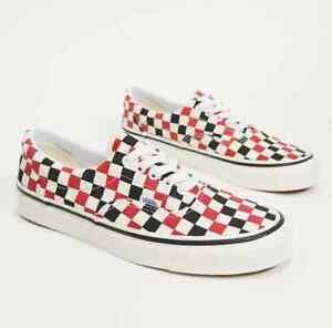 Rare Vans Era 95 DX Skate Shoes Size 10 Checkerboard Black Red Anaheim Factory
