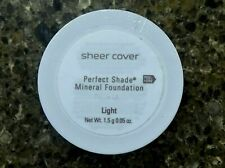 SHEER COVER Perfect Shade LIGHT Mineral FOUNDATION Travel Size 1.5g NEW Sealed