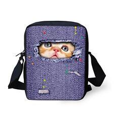 Cute Cats  Mini Mochila Kids Messenger Bags Children Book Bag Kindergarten Bag