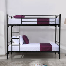 Metal Twin over Twin Bunk Beds Frame w/ Ladder Kids Adult Children Bedroom Dorm