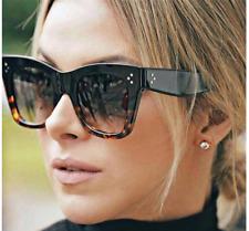 2018 NEW Kim Kardashian Sunglasses Oversized Top Flat Black Women Celine Fashion
