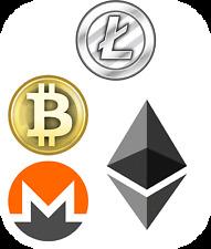 Altcoin Sticker pack Bitcoin Litecoin Monero Ethereum stickers decal FREE SHIP