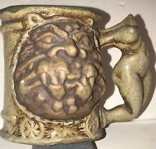 Rumph Nude Headless Maiden Handled Tankard Ogre Magical Symbols 1971 Pottery Mug