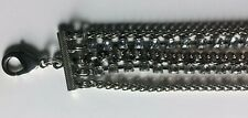 Multi Strand Silver Chain Rhinestone Waist Belt Fashion Accessories Costume