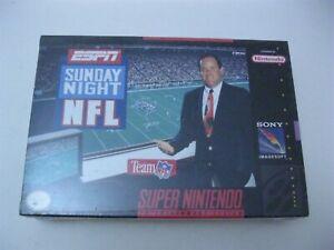 ESPN Sunday Night NFL new sealed Super Nintendo SNES 1991