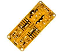 LM317 LM337 de doble módulo de alimentación ajustable filtrado regulada pcb placa