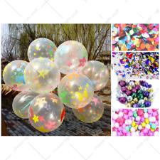 "6 Colorful Confetti Balloon Birthday Wedding Party Helium Balloons NEW 12"""