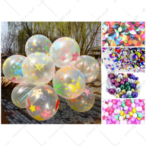 6 Colorful Confetti Balloon Birthday Wedding Party Helium Balloons NEW 12""