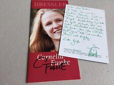 Cornelia Funke signed 10x21 folleto autógrafo