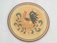 Pennsbury Pottery Red Rooster Dinner Plate VINTAGE