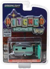 1:64 GreenLight *HITCHED HOMES 5* GREEN 1959 CATOLAC DEVILLE Camper Hitch Tow