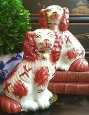 🎄🎄🎄 Preppy Pair English Staffordshire King Charles Spaniel Mantle Dogs