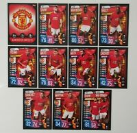 2019/20 Match Attax UEFA Soccer Cards - Manchester United Team Set