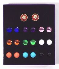 Bob Mackie Interchangeable Star Clip On Earrings - 10 Color Options NEW IN BOX