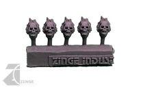 Zinge Industries Infantry Post Human Flaming Skull Helmets / Heads X5 S-sch06