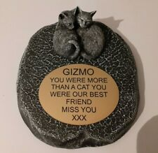 cat Large Pet Memorial/headstone/stone/grave marker/memorial with plaque new 1