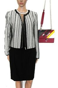 Saba, classy black dress, wool bl. superb tailored style, sz. 8, NWOT