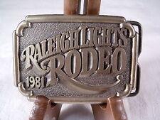 1981 RALEIGH LIGHTS RODEO BELT BUCKLE
