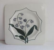 GIEN France Small Plate Muguet Lily of the Valley Square Hand Painted